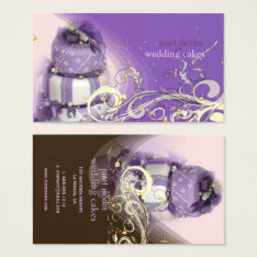 Lilac/lavender/chocolate Cake, Bakery Business Card at Zazzle