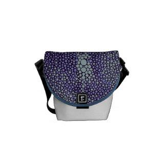 Lilac & Light Blue Shagreen Messenger Bag