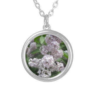 Lilac Light Purple Silver Plated Necklace
