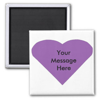 Lilac Love Heart Magnet