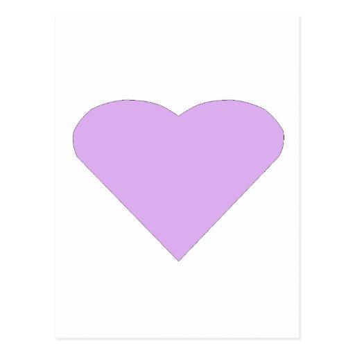 Lilac Love Heart Postcard