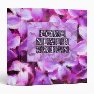 "Lilac Love Never Fails 1.5"" Photo Album Binder"