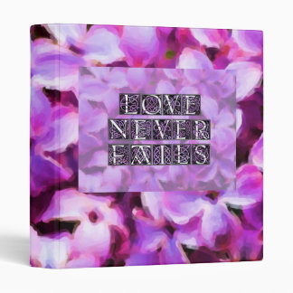 "Lilac Love Never Fails 1"" Photo Album Binder"
