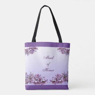 Lilac Maid of Honor Wedding Tote Bag
