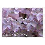"""Lilac Memorial Service Funeral Invitation 5"""" X 7"""" Invitation Card"""