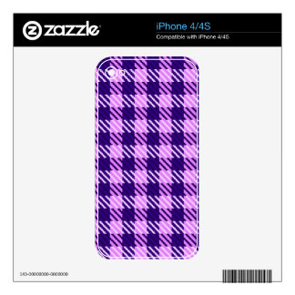 Lilac Mist Plaid Decal For The iPhone 4S