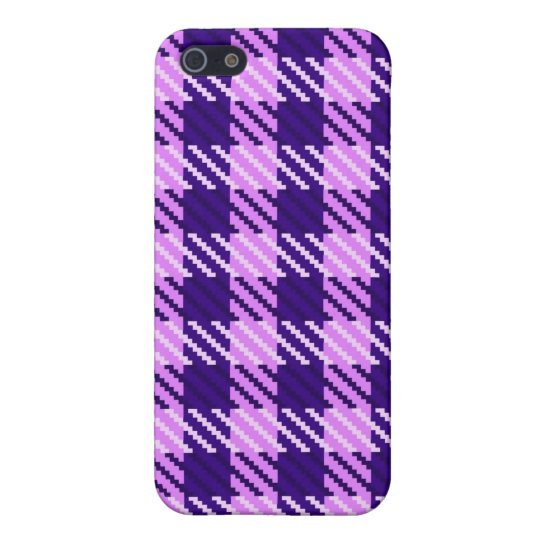 Lilac Mist Plaid iPhone SE/5/5s Cover
