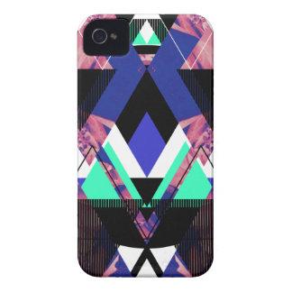 Lilac Mod Geometric iPhone 4 Cases