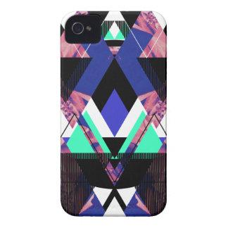 Lilac Mod Geometric Case-Mate iPhone 4 Case