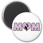 Lilac Mom Heart Fridge Magnets