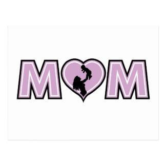 Lilac Mom Heart Postcard