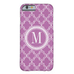 Lilac Moroccan Trellis Monogram Barely There iPhone 6 Case