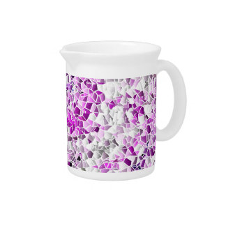 Lilac Mosaic Beverage Pitcher