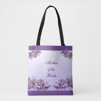 Lilac Mother of the Bride Wedding Tote Bag