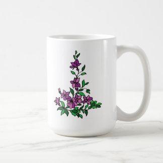 Lilac mug flower floral design