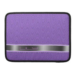 Lilac Named Waves Sleeves For MacBooks