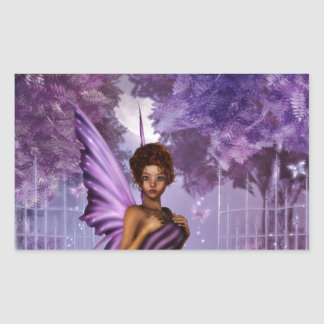 Lilac Nights Rectangle Sticker