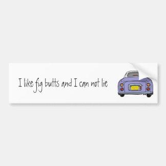 Lilac Nissan Figaro Car Bumper Sticker