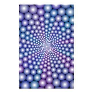 Lilac Orbs Stationery