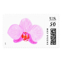 Lilac Orchid Watercolor Stamps