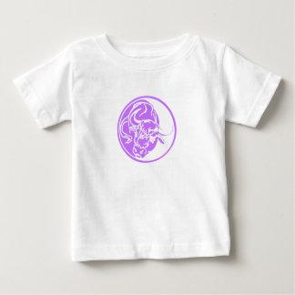 Lilac Ox Illustration Baby T-Shirt