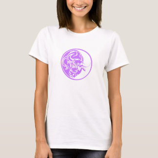 Lilac Ox Illustration T-Shirt