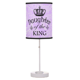 Lilac Paisley Daughter of the King Table Lamp