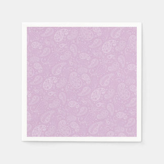 Lilac Paisley Floral Paper Napkin