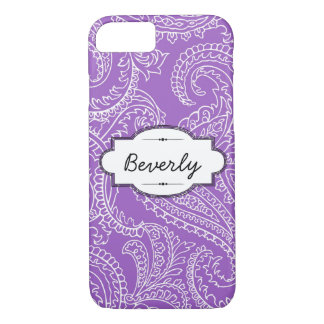 Lilac Paisley iPhone 7 Barely There Case