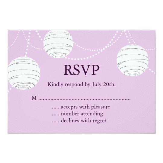 Lilac Party Lanterns RSVP Card