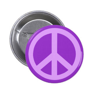 Lilac Peace Sign Products 2 Inch Round Button
