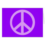 Lilac Peace Sign Products Greeting Card