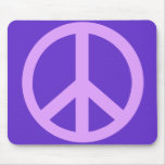 Lilac Peace Sign Products Mouse Pad