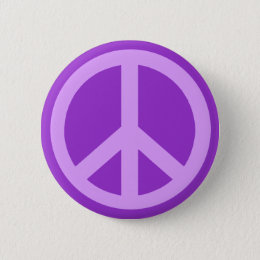 Lilac Peace Sign Products Pinback Button
