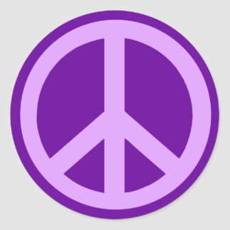 Lilac Peace Sign Products Round Sticker