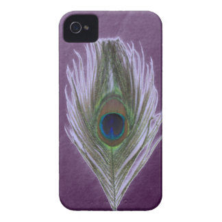Lilac Peacock Feather D iPhone 4 Case-Mate Case