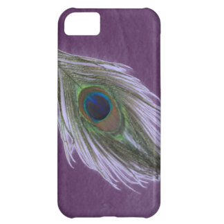 Lilac Peacock Feather D iPhone 5C Case
