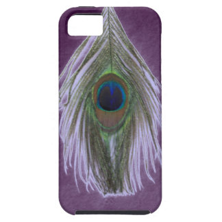 Lilac Peacock Feather D iPhone SE/5/5s Case