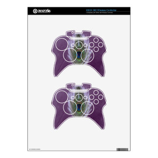 Lilac Peacock Feather D Xbox 360 Controller Skin