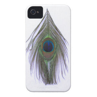 Lilac Peacock Feather iPhone 4 Case-Mate Case