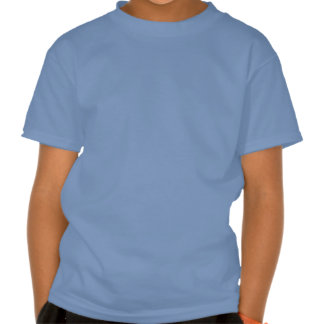 Lilac Peacock Feather on Blue T Shirts