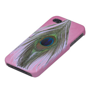 Lilac Peacock Feather on Lilac Cases For iPhone 4