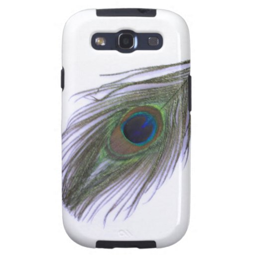 Lilac Peacock Feather Samsung Galaxy S3 Case