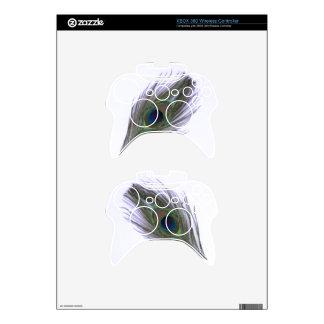 Lilac Peacock Feather Xbox 360 Controller Skin