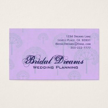 Professional Business Lilac Periwinkle Trees Customizable Business Card