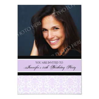 Lilac Photo 35th Birthday Party Invitations