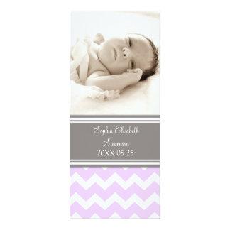 "Lilac Photo Template New Baby Birth Announcement 4"" X 9.25"" Invitation Card"