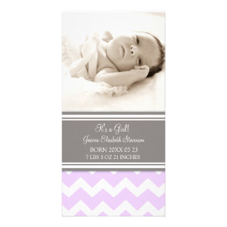 Lilac Photo Template New Baby Birth Announcement Photo Card Template