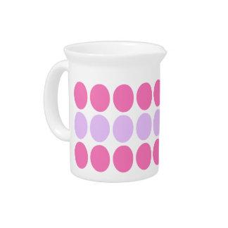 Lilac & Pink Dots Pattern Designer Pitcher