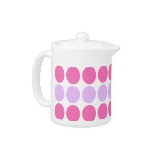 Lilac & Pink Dots Pattern Designer Teapot